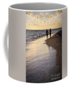 Couple Walking On A Beach Coffee Mug