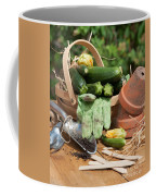 Courgette Basket With Garden Tools Coffee Mug
