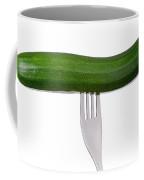 Courgette Or Zucchini On White Coffee Mug
