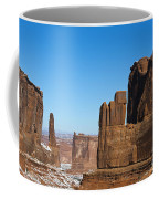 Courthouse Towers Arches National Park Utah Coffee Mug