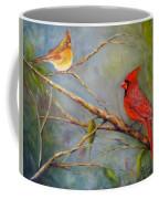 Courting Cardinals, Birds Coffee Mug