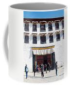Courtyard Entry To Potala Palace In Lhasa-tibet Coffee Mug