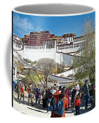 Courtyard Of Potala Palace In Lhasa-tibet Coffee Mug