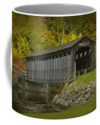 Covered Bridge In Fall Coffee Mug