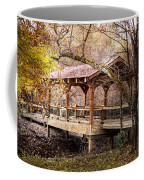 Covered Bridge On The River Walk Coffee Mug