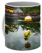 Covered Stones With Umbrella In Ritual Coffee Mug