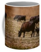 Cow And Calf Grazing Coffee Mug