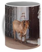 Cow At Church At Colva Coffee Mug