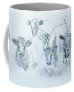 Cow Drawing Coffee Mug by Mike Jory