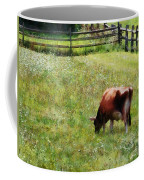 Cow Grazing In Pasture Coffee Mug