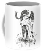 Cow In Pen And Ink Coffee Mug