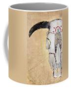 Cow Skull In Yellow Coffee Mug