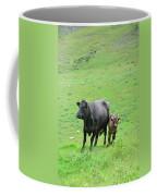 Cow With Calf On Thorpe Hillside Coffee Mug
