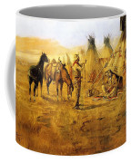 Cowboy Bargaining For The Indian Girl Coffee Mug by Charles Russell