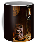 Cowboy Boots At The Ranch Coffee Mug by Olivier Le Queinec