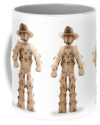 Cowboy Box Characters On White Coffee Mug