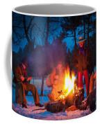 Cowboy Campfire Coffee Mug by Inge Johnsson
