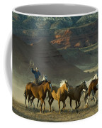 Cowboy Driving Horses Coffee Mug