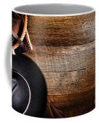 Cowboy Gear On Wood Coffee Mug