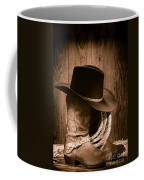Cowboy Hat And Boots Coffee Mug by Olivier Le Queinec
