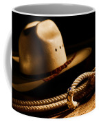Cowboy Hat And Lasso Coffee Mug by Olivier Le Queinec