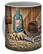 Cowboy Hat And Rodeo Lasso Coffee Mug by Paul Ward