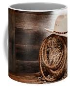 Cowboy Hat On Hay Bale Coffee Mug by Olivier Le Queinec