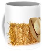 Cowboy Hat On Straw Bale Coffee Mug by Olivier Le Queinec