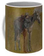 Cowboy In The Badlands Coffee Mug