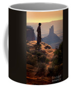 Cowboy On A Cliff Coffee Mug
