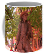 Cowboy Statue In Front Of The Brown Palace Hotel In Denver Coffee Mug