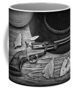 Cowboys And Indians In Black And White Coffee Mug