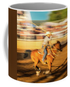 Cowboys Ride And Rope Cattle During San Coffee Mug