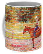 Cowgirl In Bricks Coffee Mug