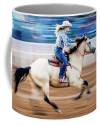 Cowgirl Rides Fast For Best Time Coffee Mug