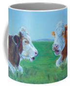 Cows Lying Down Chatting Coffee Mug