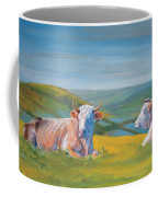 Cows Lying Down Painting Coffee Mug