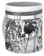 Cows Pencil Sketch Coffee Mug
