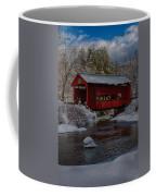 Cox Brook Runs Under Covered Bridge Coffee Mug