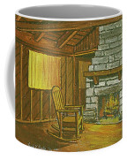 Cozy Fireplace At Lake Hope Ohio Coffee Mug