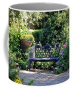 Cozy Southern Garden Bench Coffee Mug
