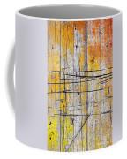 Cracked Wood Background Coffee Mug by Carlos Caetano