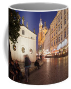 Cracow By Night In Poland Coffee Mug