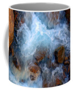 Crashing Falls On Rocks Below Coffee Mug