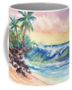 Crashing Waves At Sunrise Coffee Mug