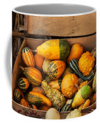 Crate Filled With Pumpkins And Gourts Coffee Mug