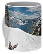 Crater Lake And Wizard Island In June Coffee Mug