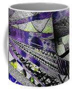 Crazy Cones Purple Greenl2 Coffee Mug