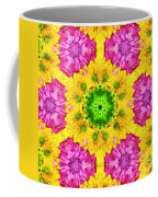 Crazy Daises - Spring Flowers - Bouquet - Gerber Daisy Wanna Be - Kaleidoscope 1 Coffee Mug