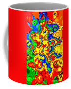 Crazy Day Abstract In Primary Colors  Coffee Mug